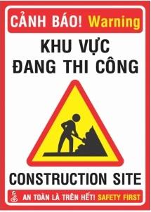 biển báo công trình